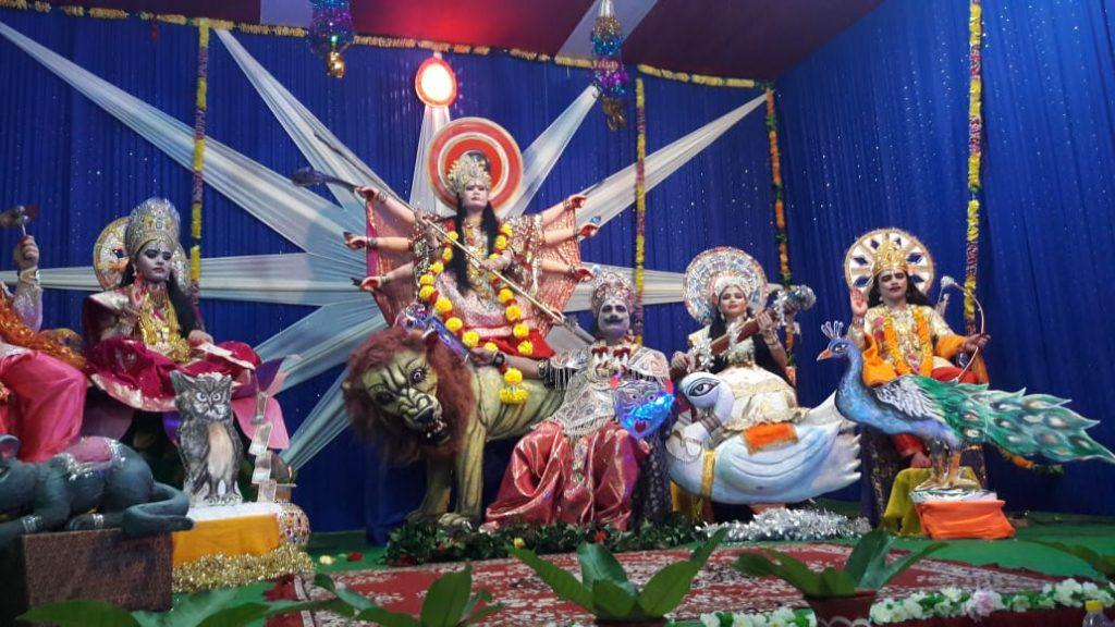 Tinsukia : Chaitanya Deviyon ki Durga Jhanki